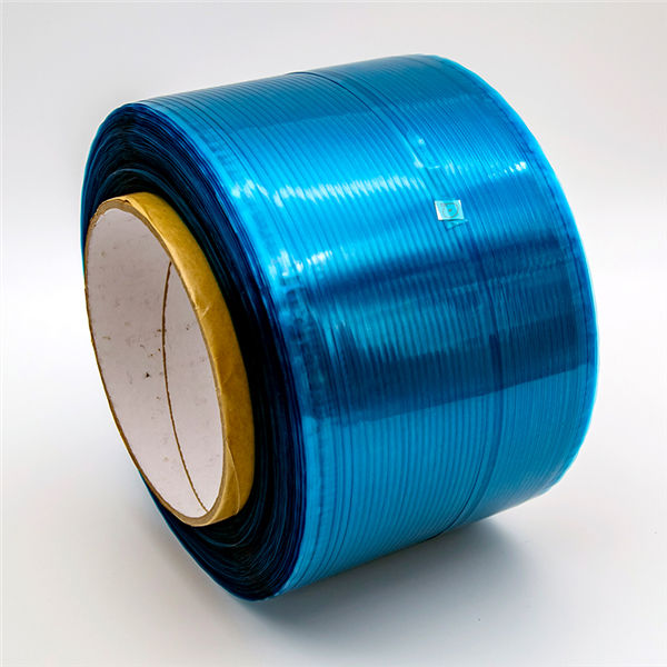 Ruban de scellement permanent pour sac, film bleu / rouge